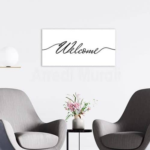 Quadro stampa su tela welcome, decorazione moderna