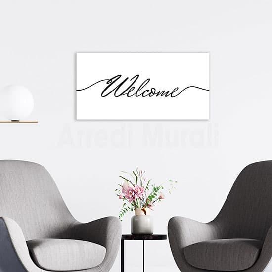Quadro stampa su tela welcome, decorazione moderna