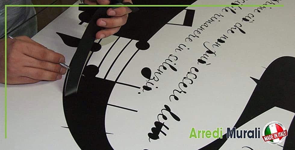 realizzazione e preparazione di adesivi da parete
