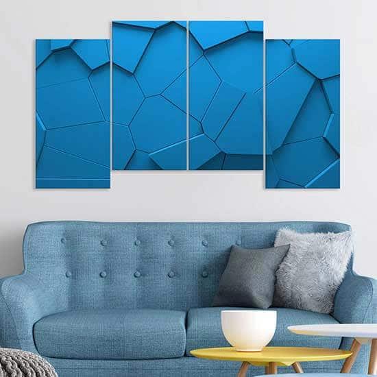 tele-canvas-blu-forme-geometriche-arte-digitale