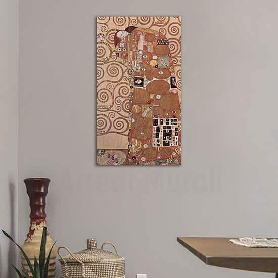 Abbraccio di Klimt riproduzione del dipinto