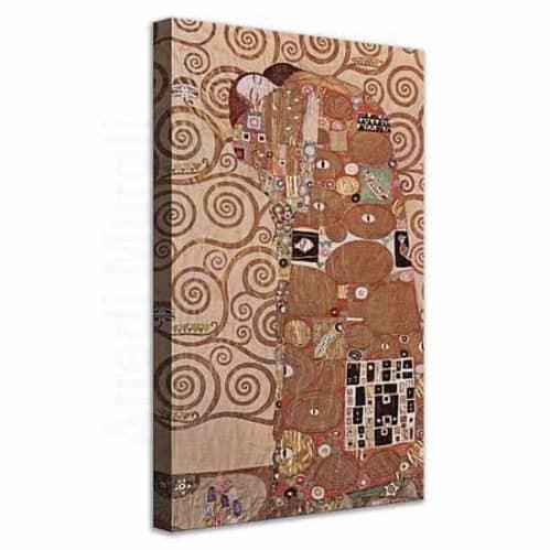 Abbraccio di Klimt quadro su tela riproduzione del dipinto
