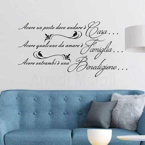 Frase adesiva da parete per la famiglia, idea decorativa