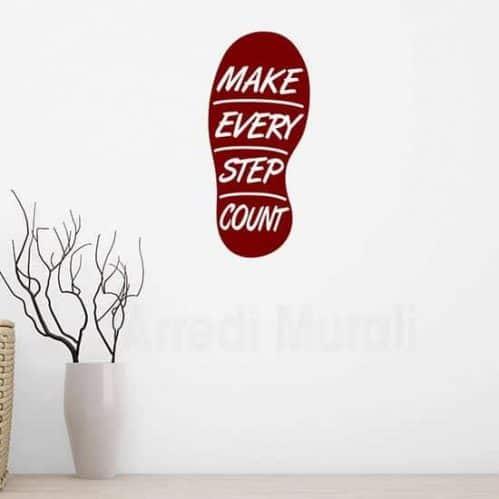 Adesivi murali Make every step count
