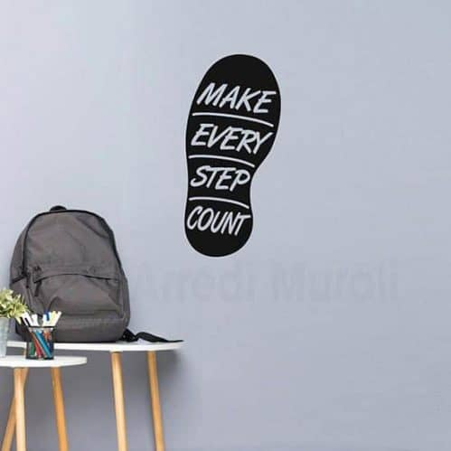 stickers murale con frase Make every step count