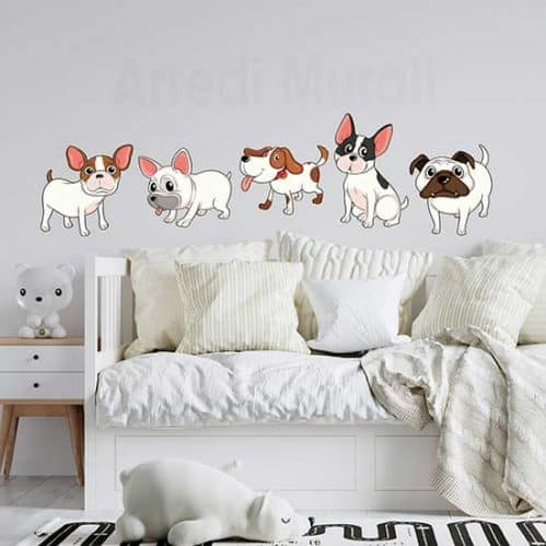 Adesivi murali cani simpatici