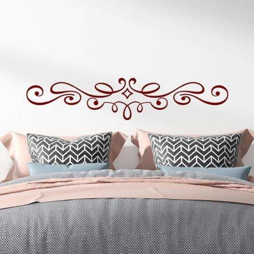 Disegno adesivo decorativo per testata letto