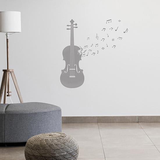 Adesivi murali violino con note