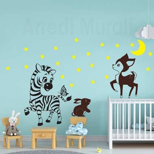 Decorazioni adesive per le camerette dei bambini