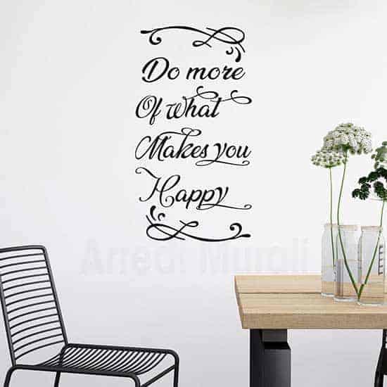 Frase adesiva da muro in inglese, idea decorativa