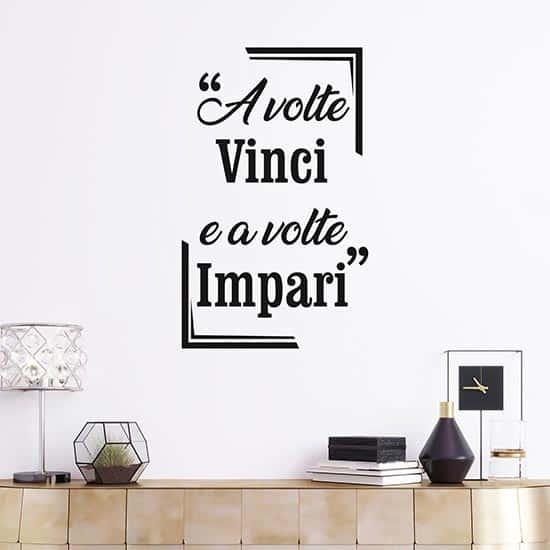 Frase adesiva motivazionale da parete