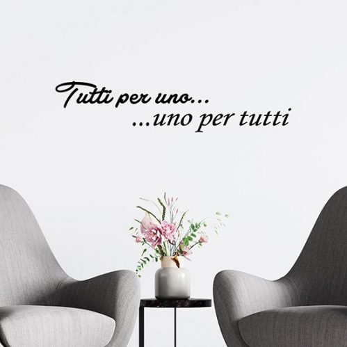 Frase stickers in offerta nero