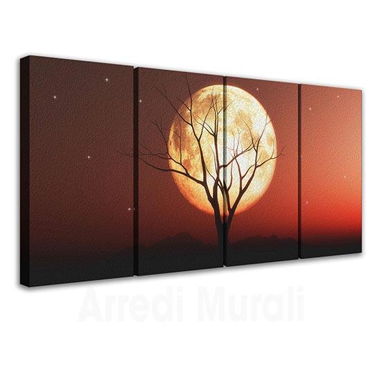 Tele canvas con paesaggio al tramonto