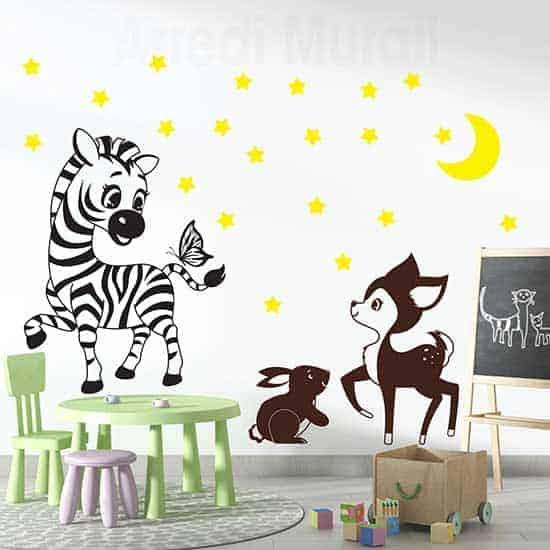 Decorazioni adesive da parete per le camerette dei bambini