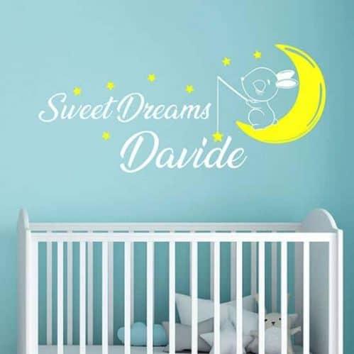 Adesivi personalizzati con nome per bambini, decorazioni