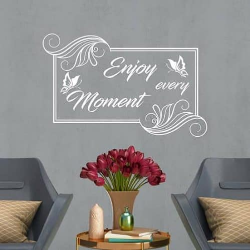 Frase adesiva Enjoy every moment in sticker da parete