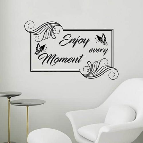 Frase adesiva Enjoy every moment