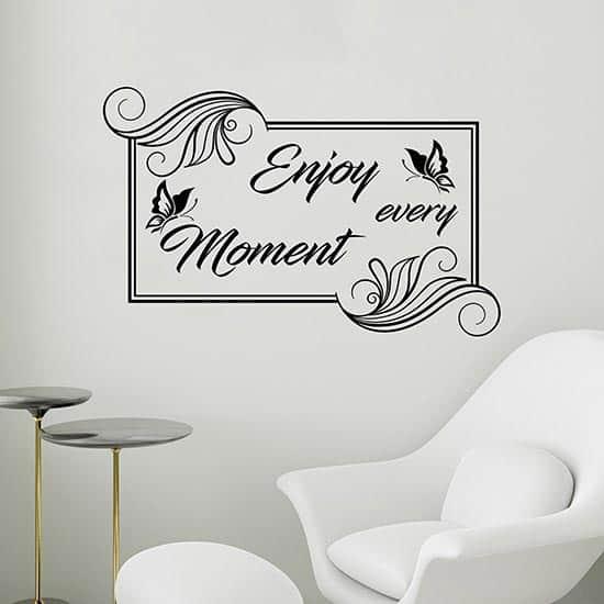 Frase adesiva Enjoy every moment