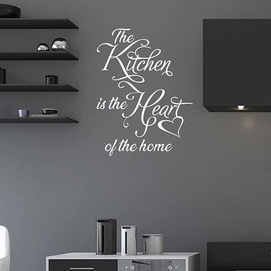 Frase adesiva per decorare la cucina, adesivi da parete