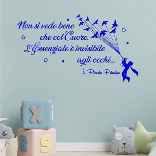 Frase adesiva del Piccolo Principe, adesivi murali