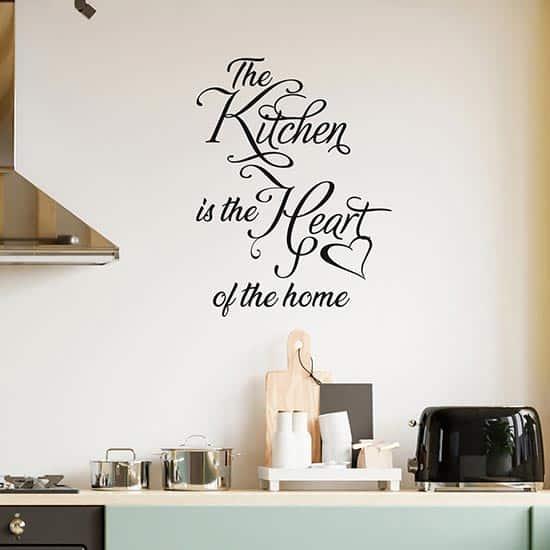 Frase adesiva per decorare la cucina