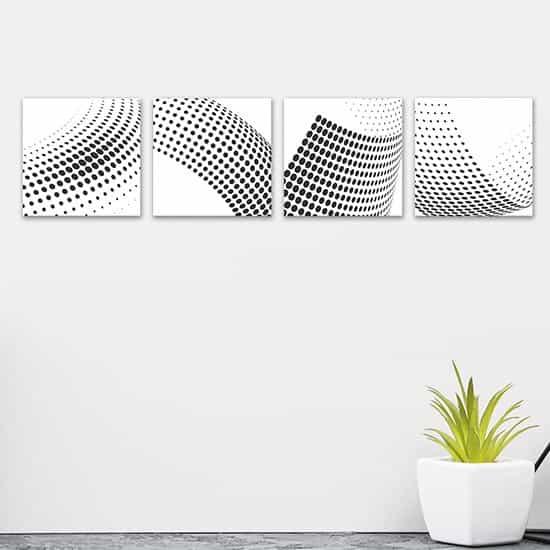 Quadri da parete con astrattismo moderno, 4 tele canvas