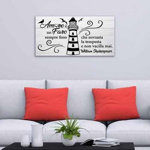 Quadro su tela con citazione di Shakespeare, decorazione da pare