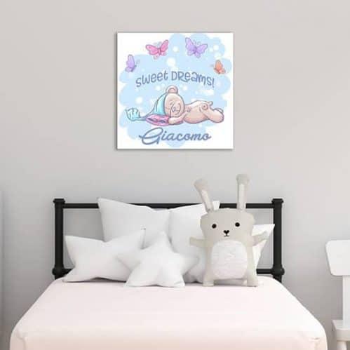 Quadro personalizzato su tela per bambini, decorazione per camer