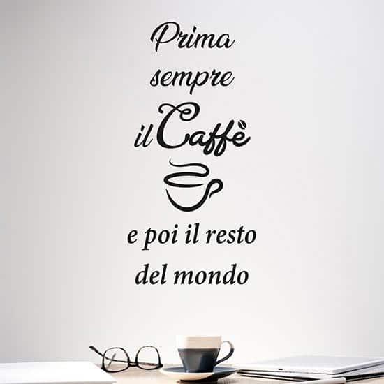Scritta da parete caffe per cucina o bar