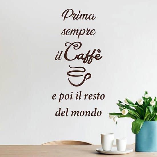 Scritta da parete caffe