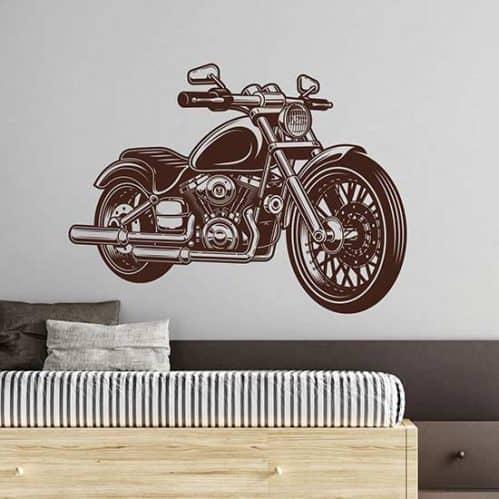 Adesivi murali moto classica, decorazione adesiva
