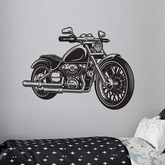 Adesivi murali moto classica