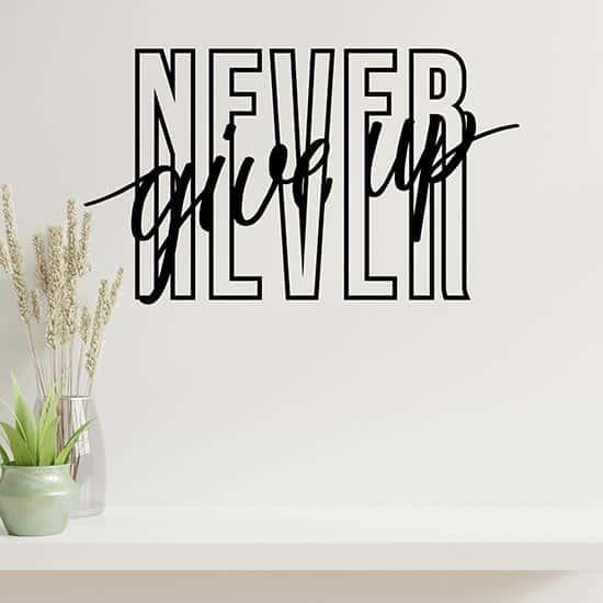 Adesivi murali Never give up