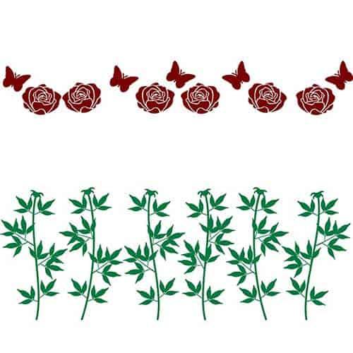 Disposizione della decorazione adesiva da parete con fiori