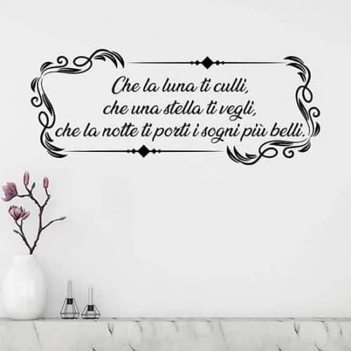 Frase adesiva personalizzata per muro, decorazioni da parete