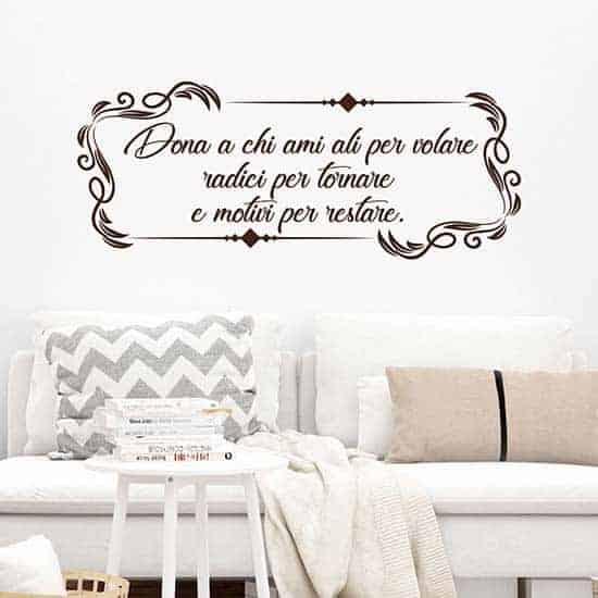 Frase adesiva personalizzata per muro