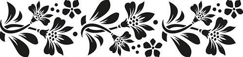 Greca adesiva con fiori