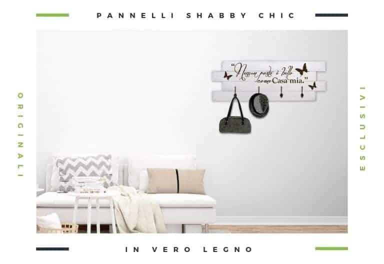 decorazioni pareti con pannelli legno shabby chic