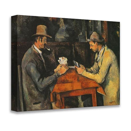 Quadro famoso I giocatori di carte