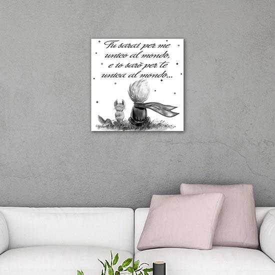 Quadro da parete Piccolo Principe, stampa su tela