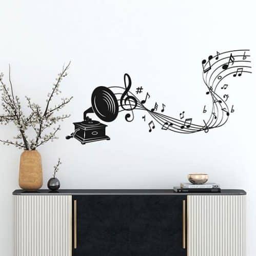 Adesivi da parete arte della musica
