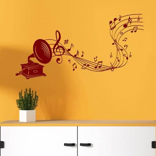 Adesivi da parete arte della musica, decorazioni murali