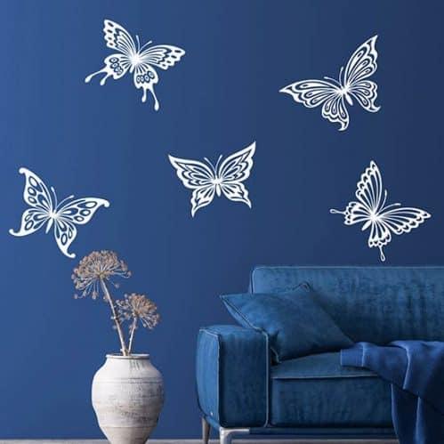 Adesivi murali farfalle grandi, decorazioni adesive