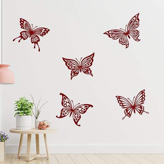 Adesivi murali farfalle grandi