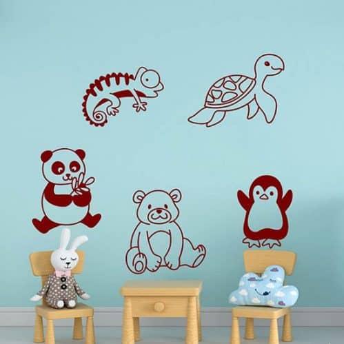 Disegni adesivi per bambini da applicare a piacimento