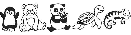 Disposizione dei disegni adesivi per bambini