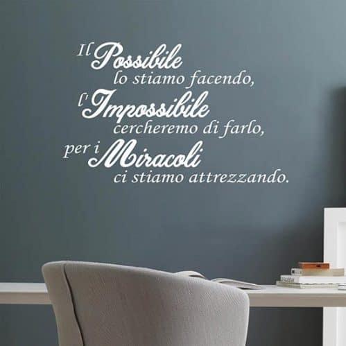 Frase adesiva motivazionale per muro, decorazione la parete
