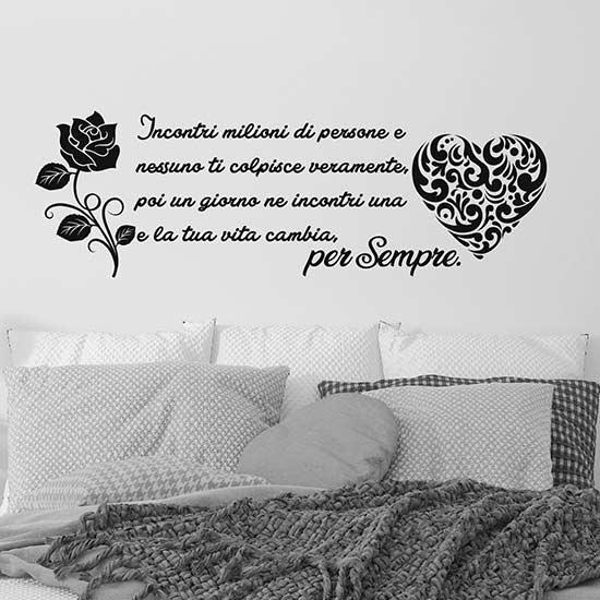 Frase adesiva murale d'amore, decorazioni adesive