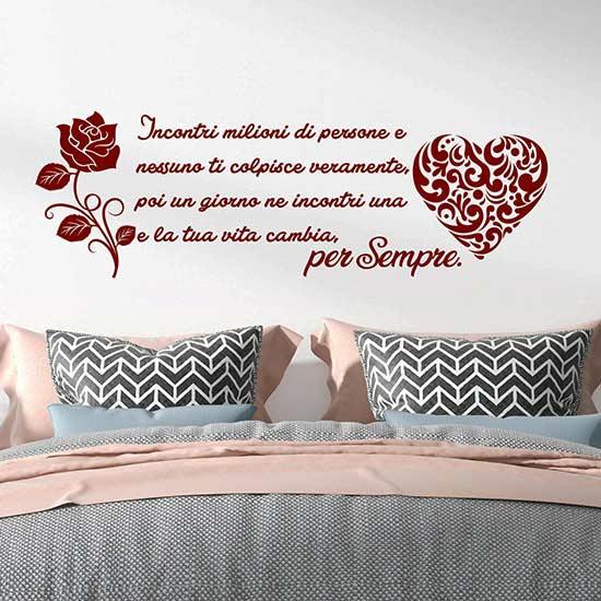 Frase adesiva murale d'amore