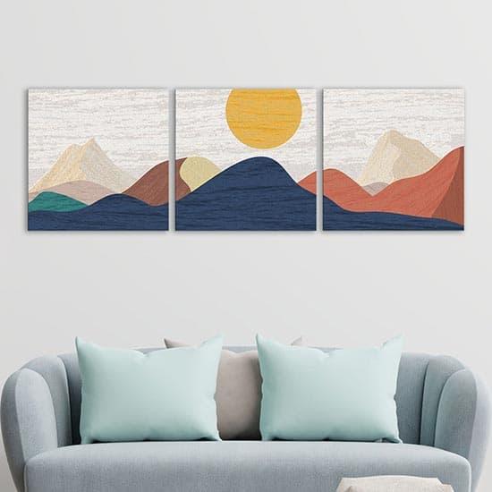 Quadri su tela astratti moderni, 3 tele canvas
